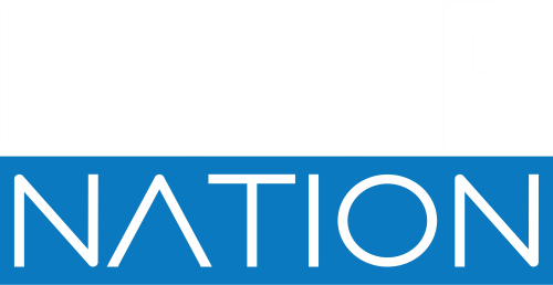 Door Nation Logo - Blue and White - 500w